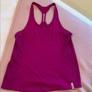 Purple Under Armour workout tank top